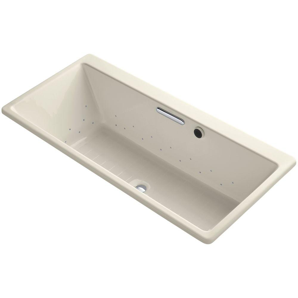 Reve 5.5 ft. Air Bath Tub in Almond