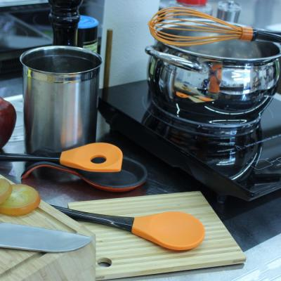 Geminis Silicone Orange 11.5 in. Salad Spoon 11.5 in. Slotted Spoon and 10.75 in. Whisk Utensils (Set of 3)