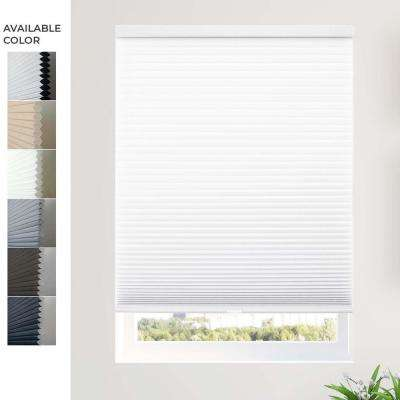 Cut-to-Width White 9/16 in. Light Filtering Cordless Cellular Shade - 61.5 in. W x 48 in. L