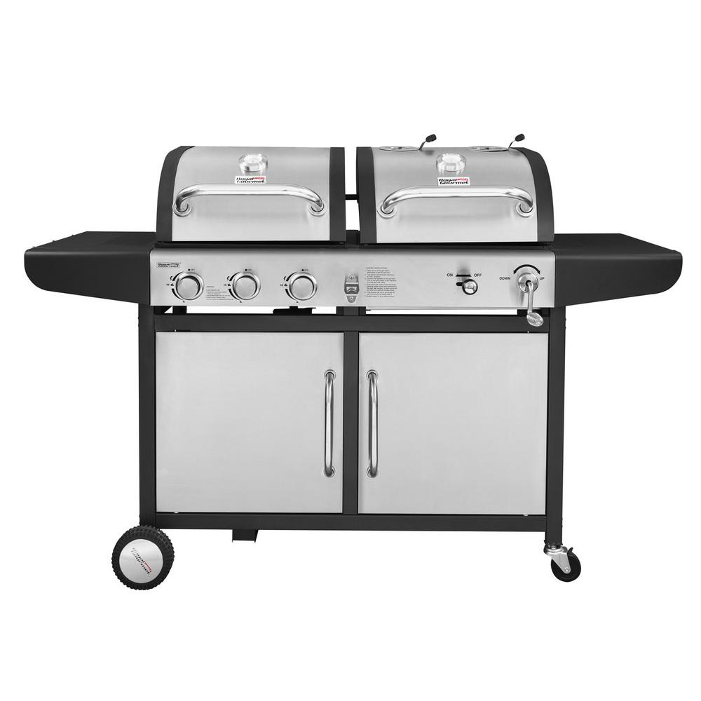 charcoal gas grill royal gourmet 3 burner propane gas and charcoal combo 30925
