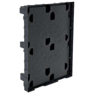 48 in. x 40 in. x 7 in. Gray Plastic Pallet/Skid with Lip