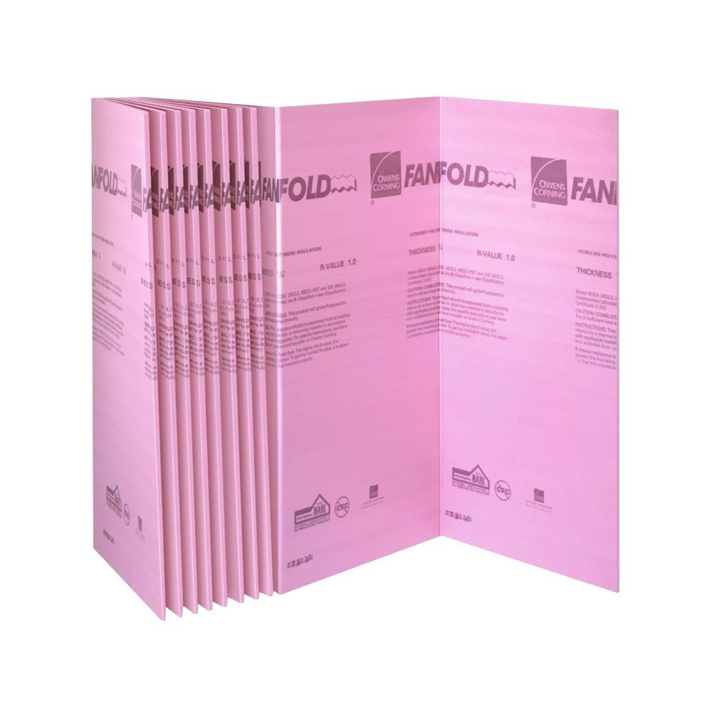 Owens Corning FOAMULAR 1/4 in. x 4 ft. x 50 ft. R-1 Fanfold Rigid Foam Board Insulation Sheathing