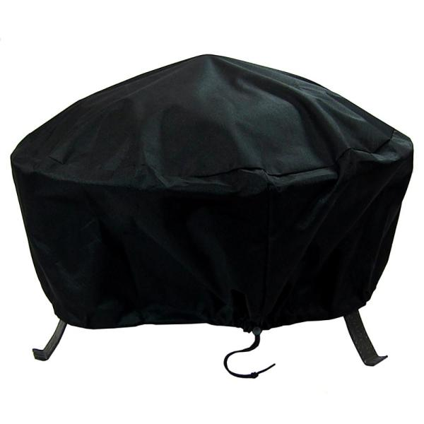 40 in. Black Durable Weather-Resistant Round Fire Pit Cover