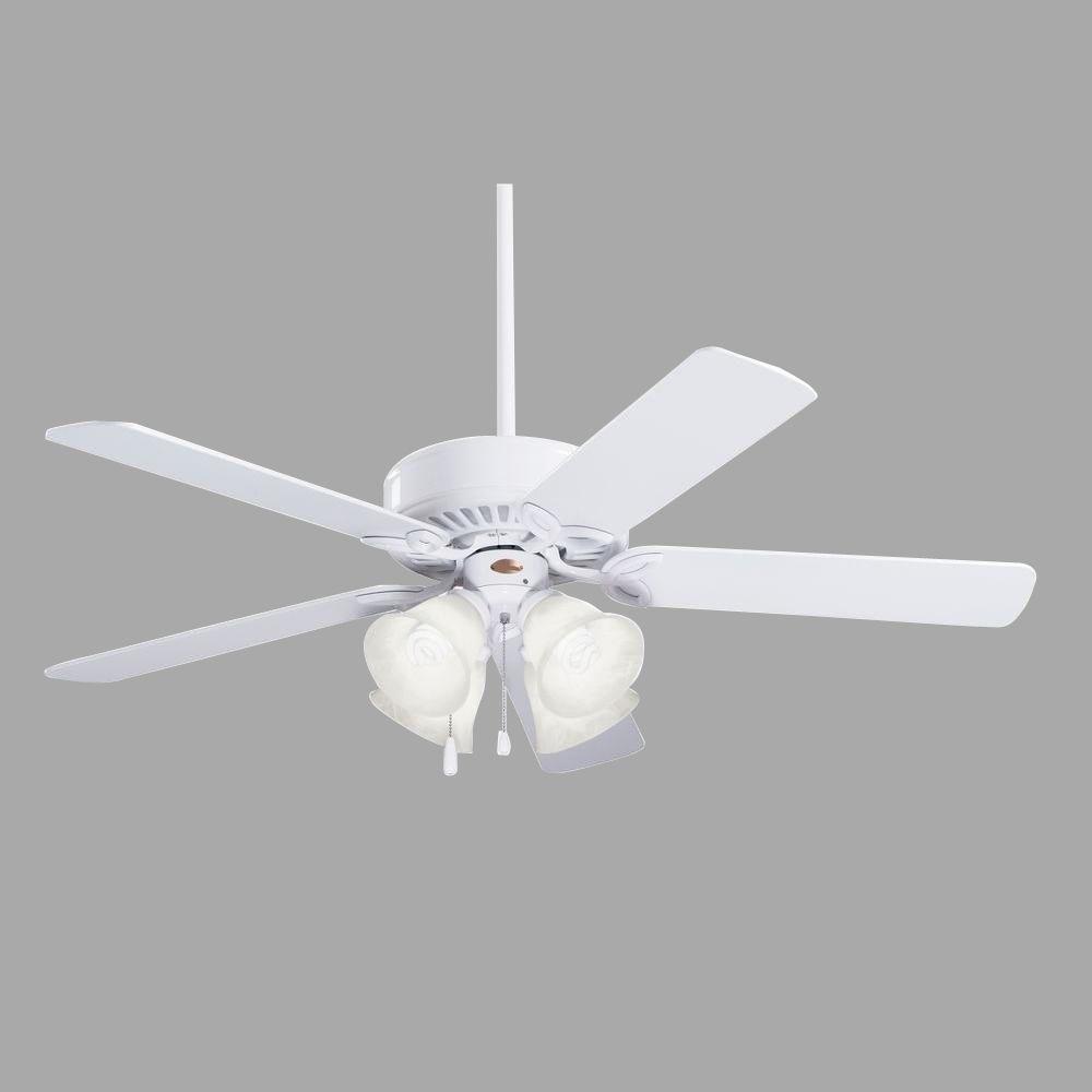 Illumine Zephyr 50 in. Indoor Appliance White Incandescent Ceiling Fan