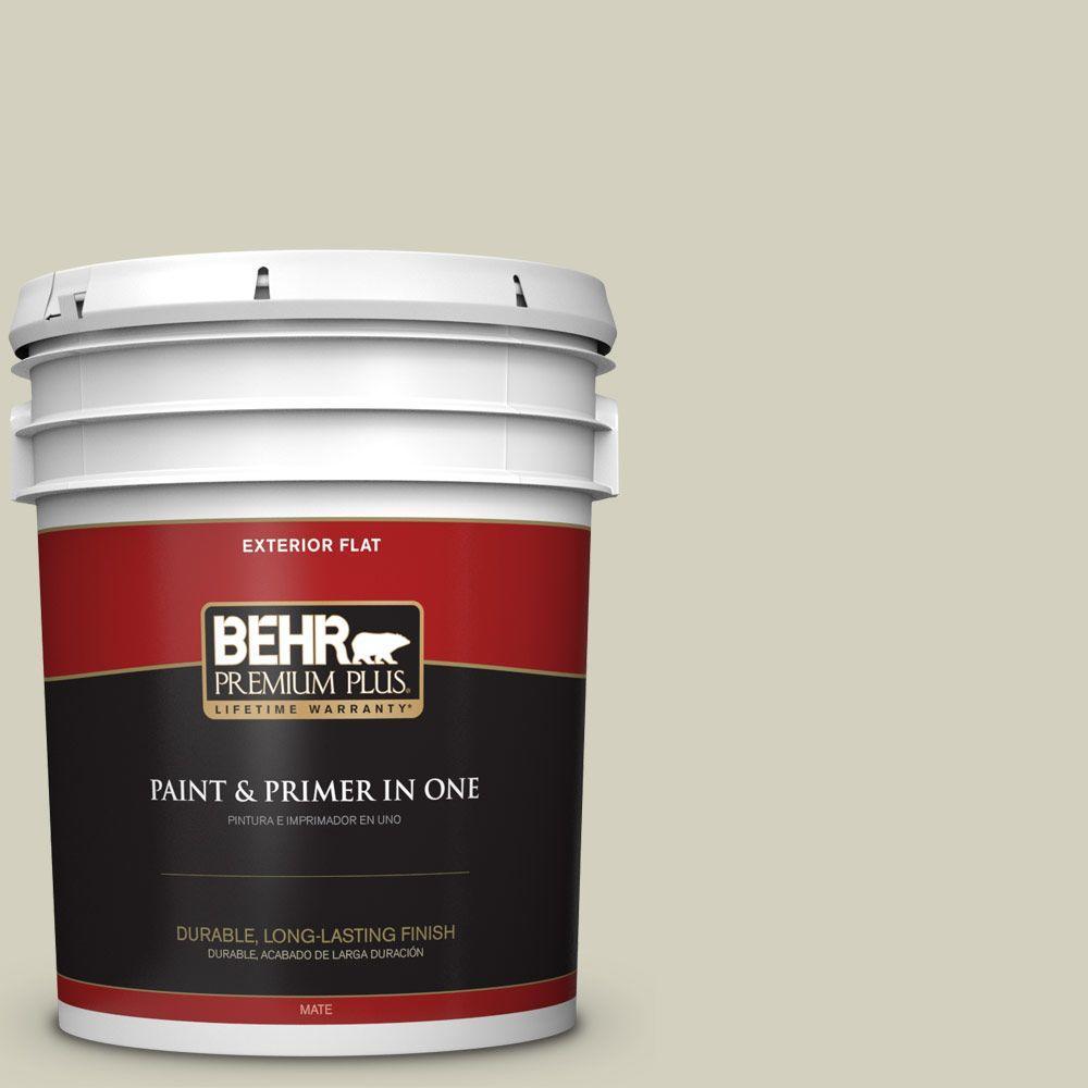 BEHR Premium Plus 5-gal. #PPF-14 Traditional Tan Flat Exterior Paint