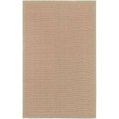 Border Town Beige 4 ft. x 6 ft. Area Rug