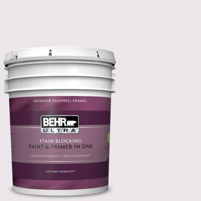 Behr Ultra 5 Gal S130 1 Beloved Pink Eggshell Enamel Interior Paint And Primer In One 275005 The Home Depot
