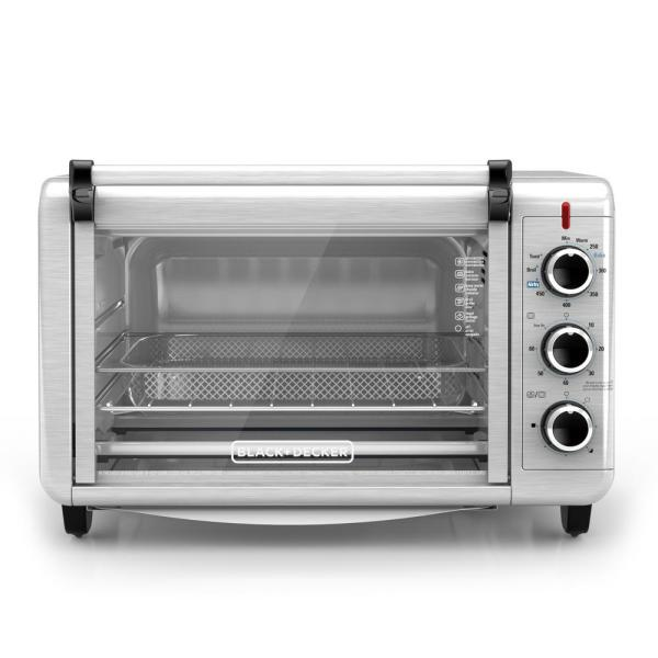 BLACK+DECKER Crisp 'N Bake 1500 W 6-Slice Stainless Steel Toaster Oven