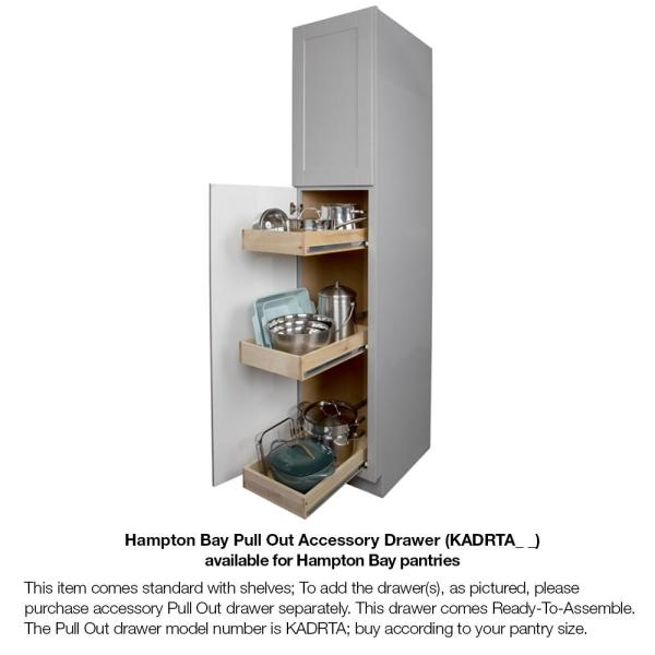 Hampton Bay Hampton Assembled 18x84x24 In Pantry Kitchen Cabinet In Satin White Kp1884 Sw The Home Depot