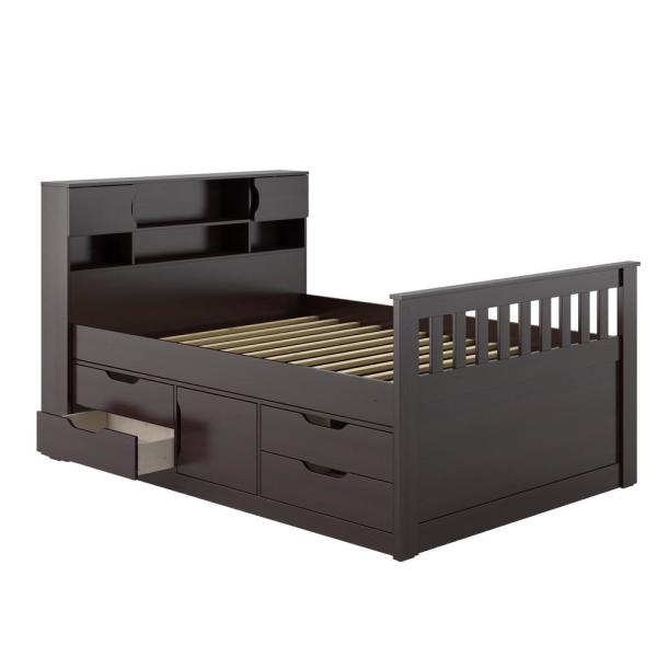 CorLiving Madison Rich Espresso Full/Double Captain's Bed BMG-170-D