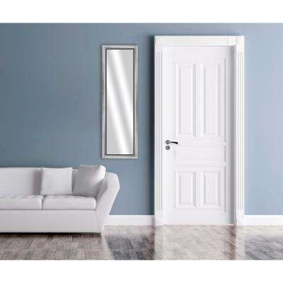 53 in. x 17 in. Stainless Silver Framed Mirror