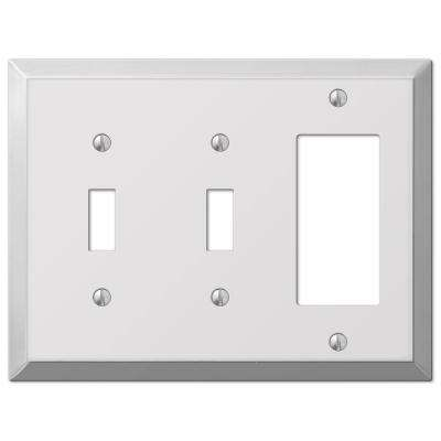 Century 2 Toggle 1 Decorator Wall Plate - Chrome