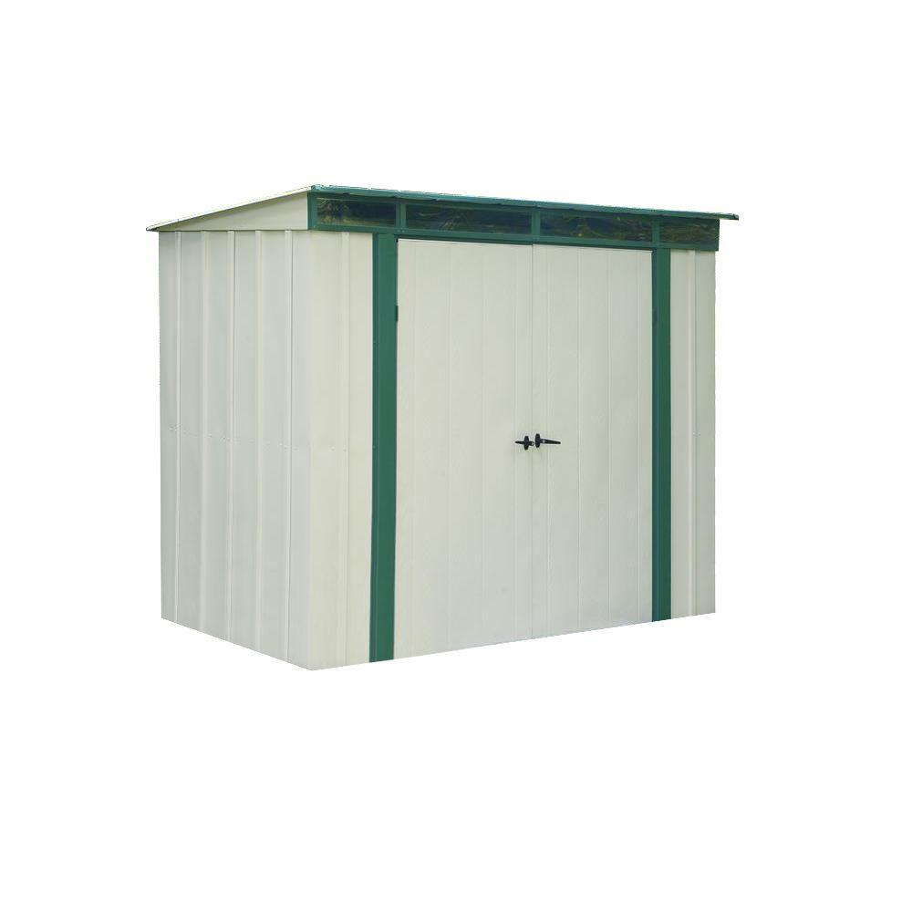 Arrow Eurolite Lean Too 6 Ft. X 4 Ft. Steel Storage Shed