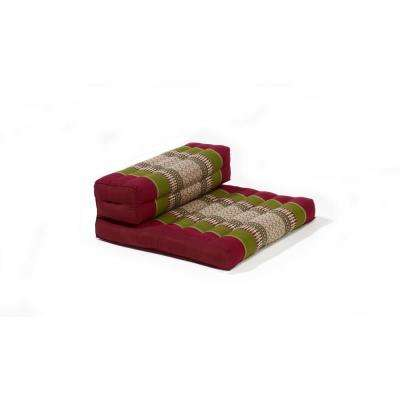 Army and Red Dhyana Floor Living and Meditation Cushion