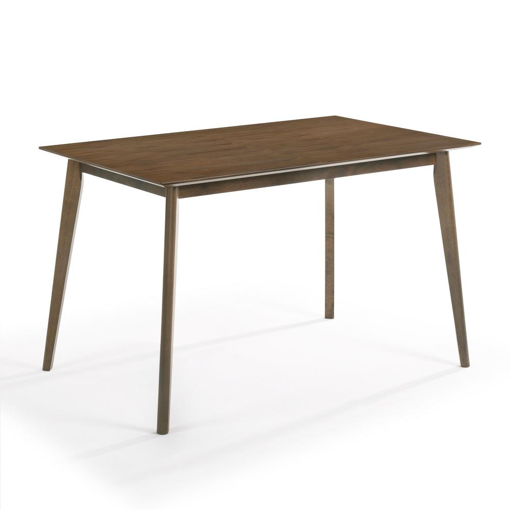EDGEMOD Salerno Dining Table in Walnut, Brown was $245.0 now $147.0 (40.0% off)