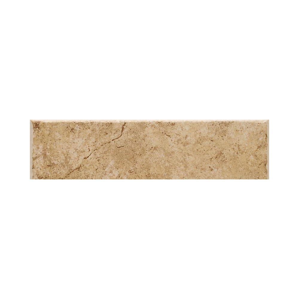 Fidenza Dorado 3 in. x 9 in. Ceramic Bullnose Wall Tile