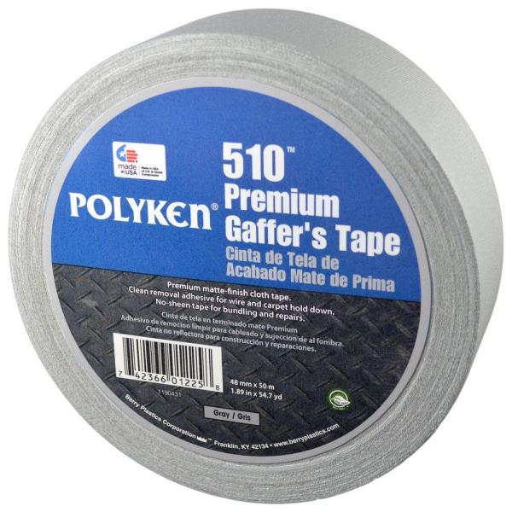 1.89 in. x 54.7 yd. 510 Professional-Grade Gaffer Tape in Silver