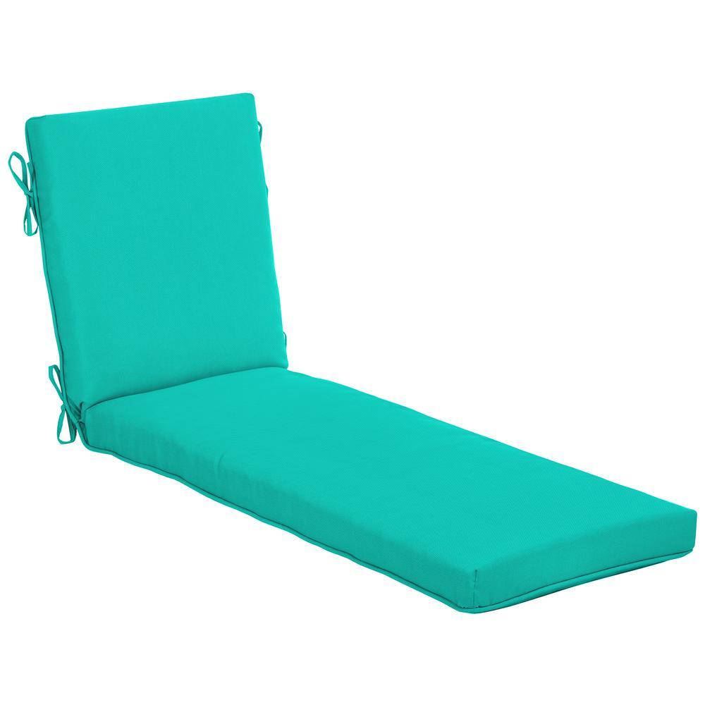 21 in. x 24 in. CushionGuard Sea Glass Outdoor Chaise Lounge Cushion