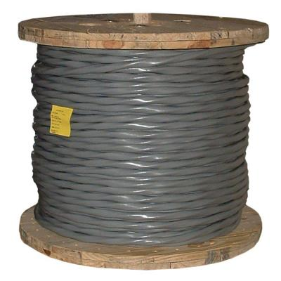 500 ft. 2/0-2/0-2/0-1 Gray Stranded AL SER Cable