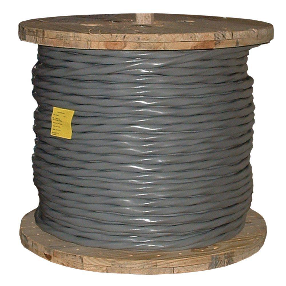 500 ft. 2/0-2/0-2/0-1 Gray Stranded AL SER Cable