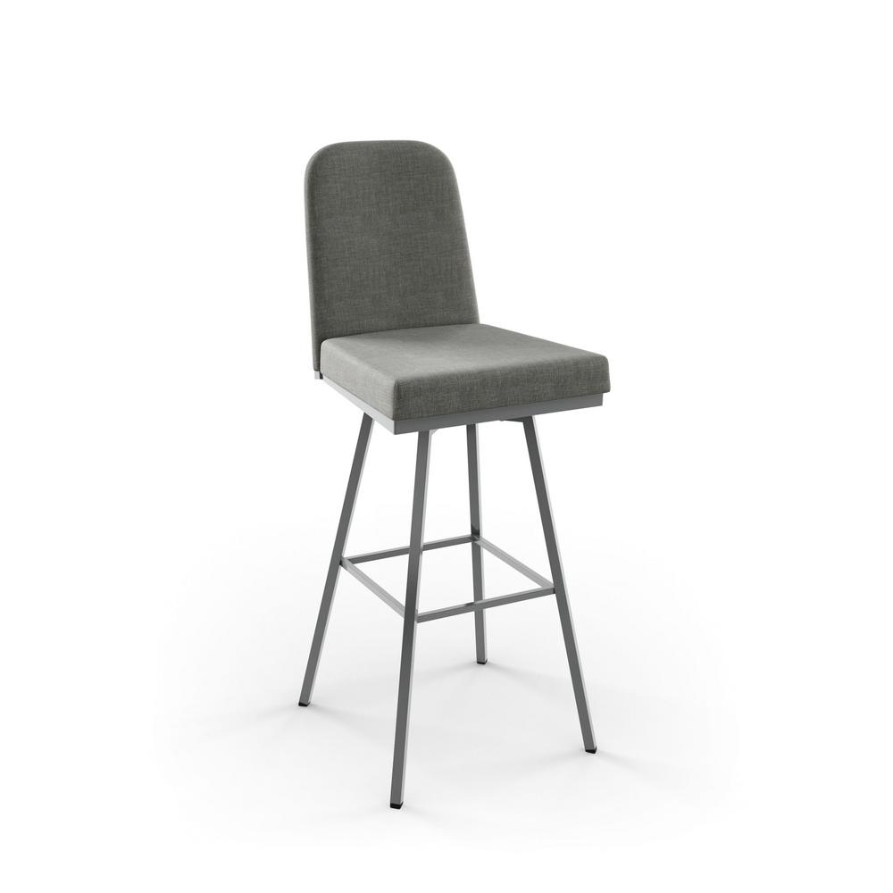 Amisco Spoon 30 in Glossy Grey Metal Medium Grey  : metal glossy grey medium grey polyester amisco bar stools 41327 30 24bi 641000 from www.homedepot.com size 1000 x 1000 jpeg 26kB