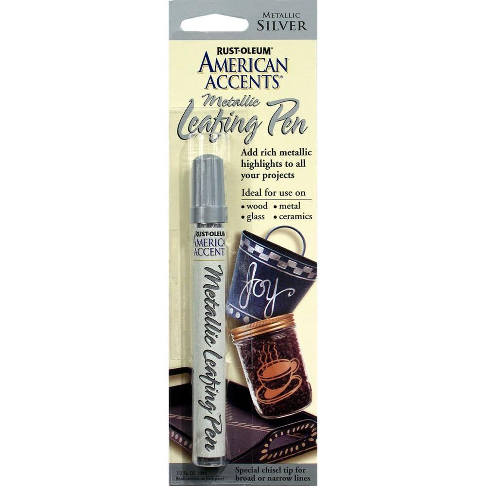 Rust-Oleum American Accents Silver Metallic Leafing Pen (...