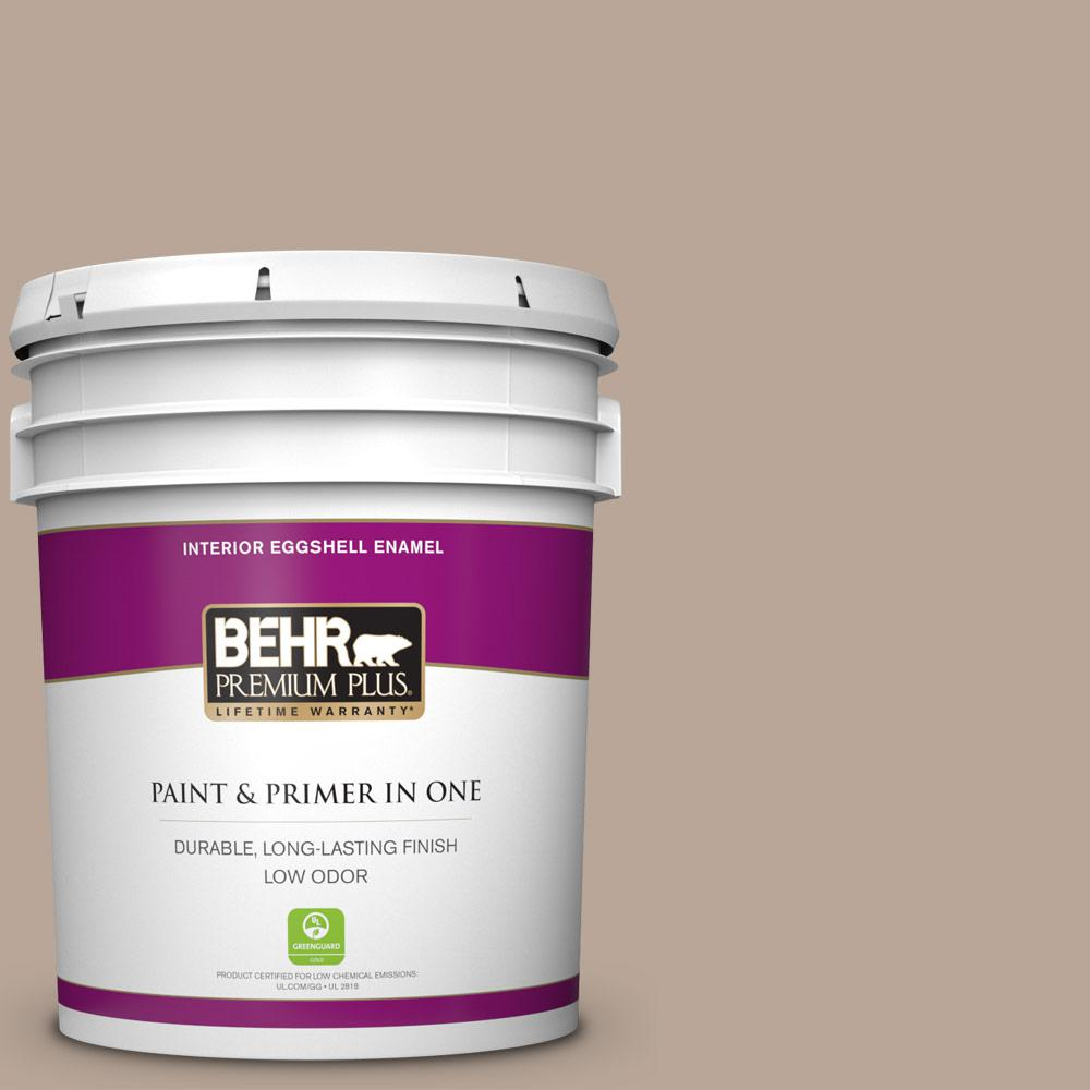 Behr Premium Plus 5 Gal Bxc 43 Desert Sandstorm Eggshell Enamel Low Odor Interior Paint And Primer In One 240005 The Home Depot
