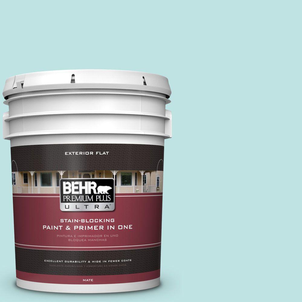 BEHR Premium Plus Ultra 5-gal. #510C-2 Windwood Spring Flat Exterior Paint