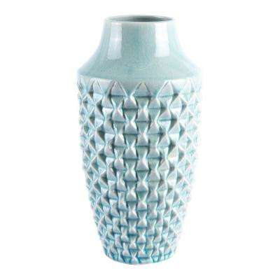 Light Teal Brick Medium Decorative Vase