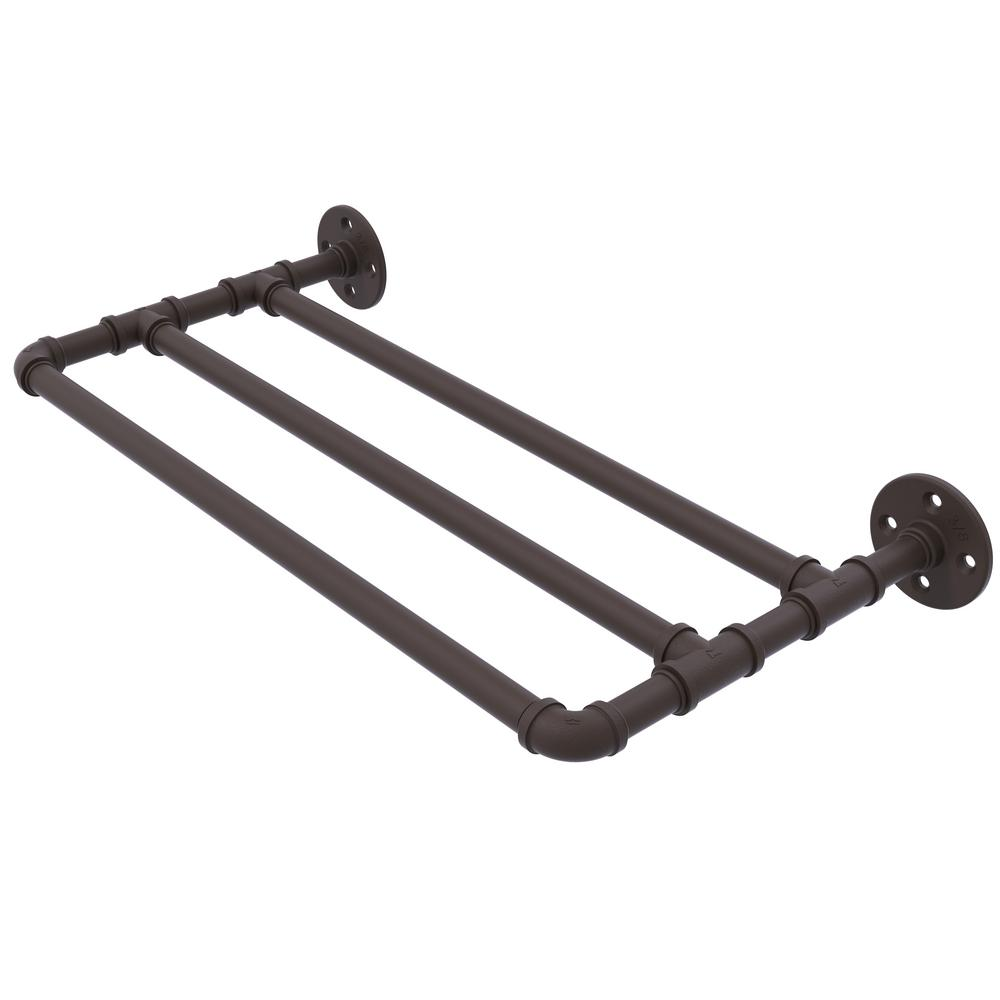 Allied Brass Pipeline Collection 36 in. Wall Mounted Towel Shelf in ...