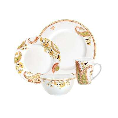 Paisley 16-Piece Dinnerware Set
