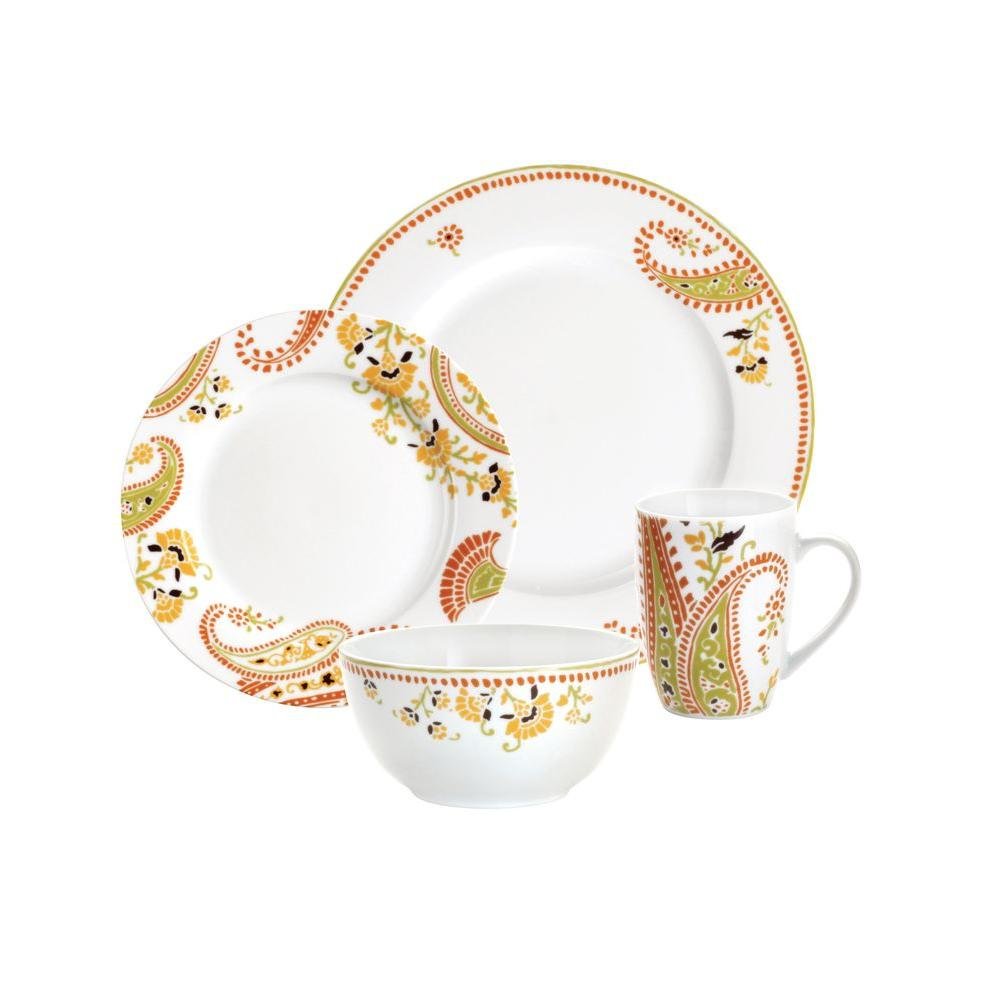Rachael Ray Paisley 16-Piece Dinnerware Set