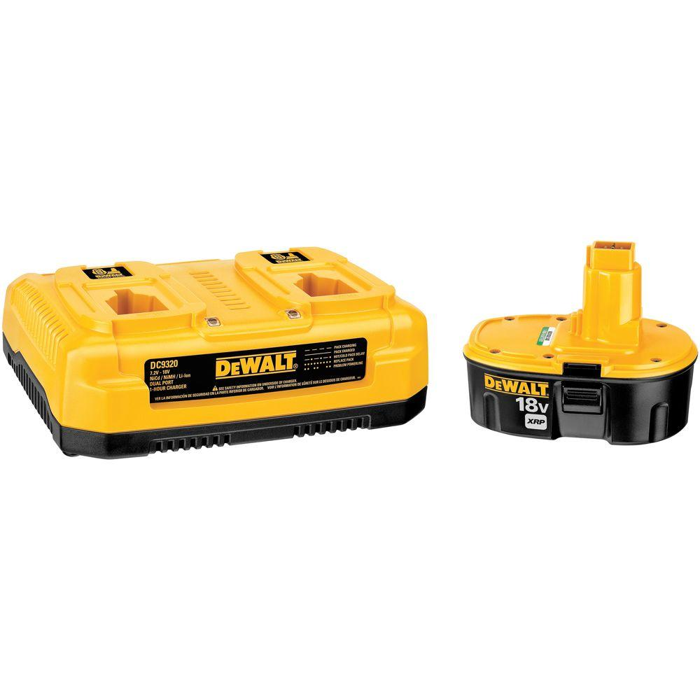 DeWALT 18-Volt XRP NiCd Extended Run-Time Battery Pack 2....