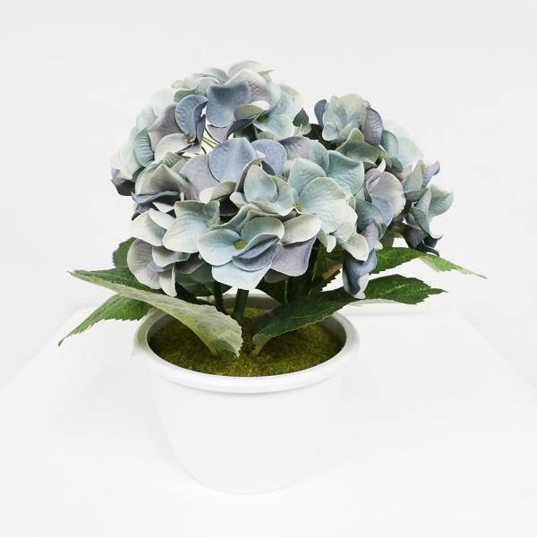 10 in. Indoor Artificial Potted Hydrangea