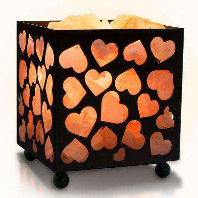 4 in. Heart Salt Basket Lamp