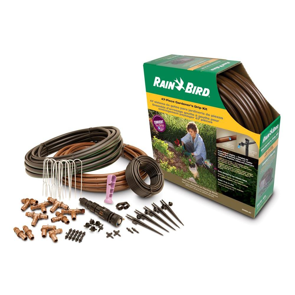 Rain bird all in one gardener 39 s drip kit grdnerkts the for Garden design kits