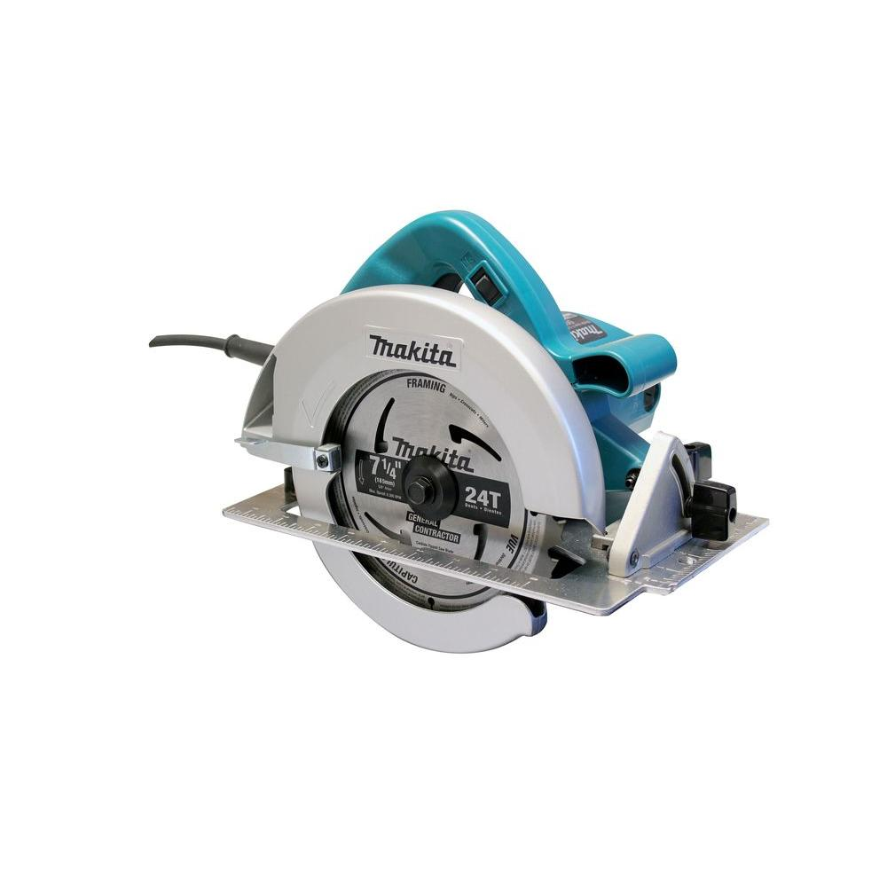 15 Amp 7-1/4 in. Corded Electric Brake Circular Saw with (2)