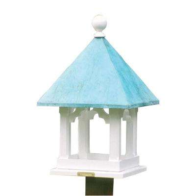 Lazy Hill Farm Designs Square Bird Feeder with Polished Copper Roof