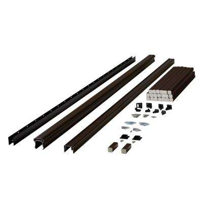 Symmetry 8 ft. Simply Brown Capped Composite Line/Stair Rail Section with 35.5 in. Balusters