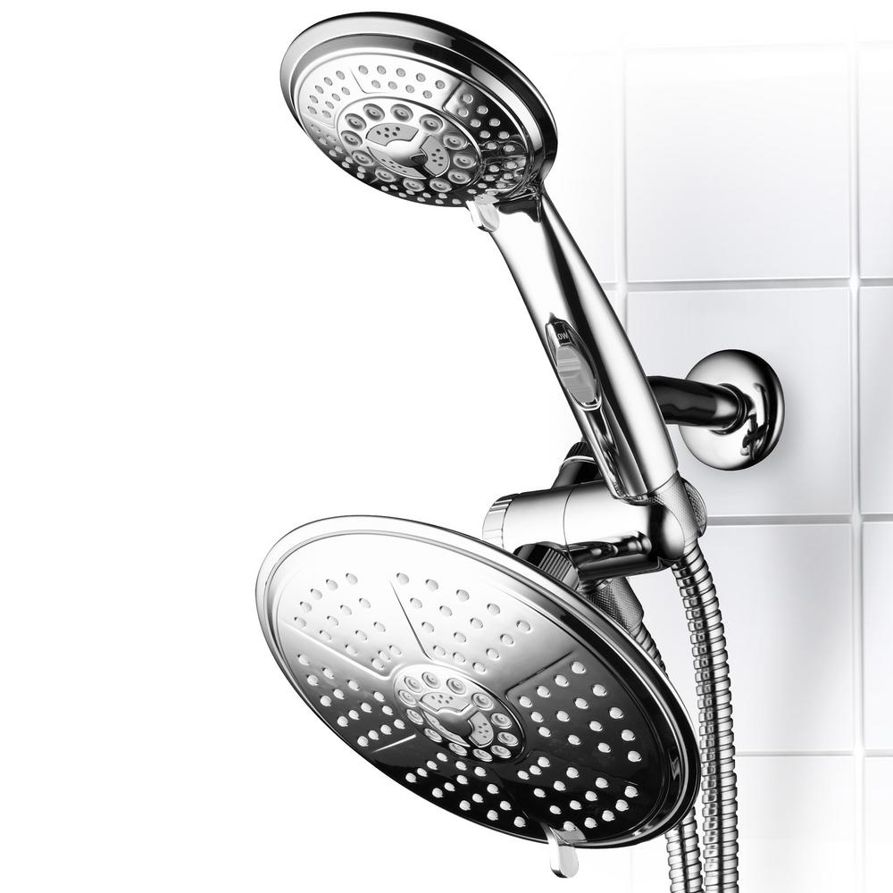 Dream Spa 38-Spray Hand Shower and Shower Head Combo Kit in Chrome with Pause Switch