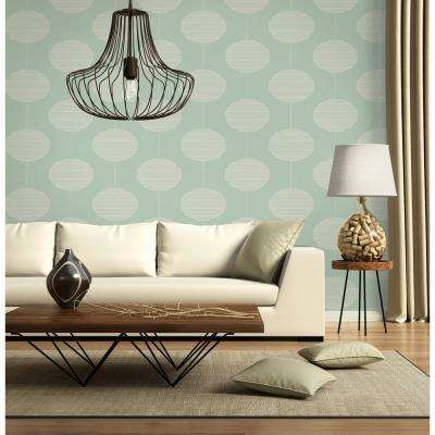 Art in Chaos Collection Paper Lanterns in Lilly Removable and Repositionable Wallpaper