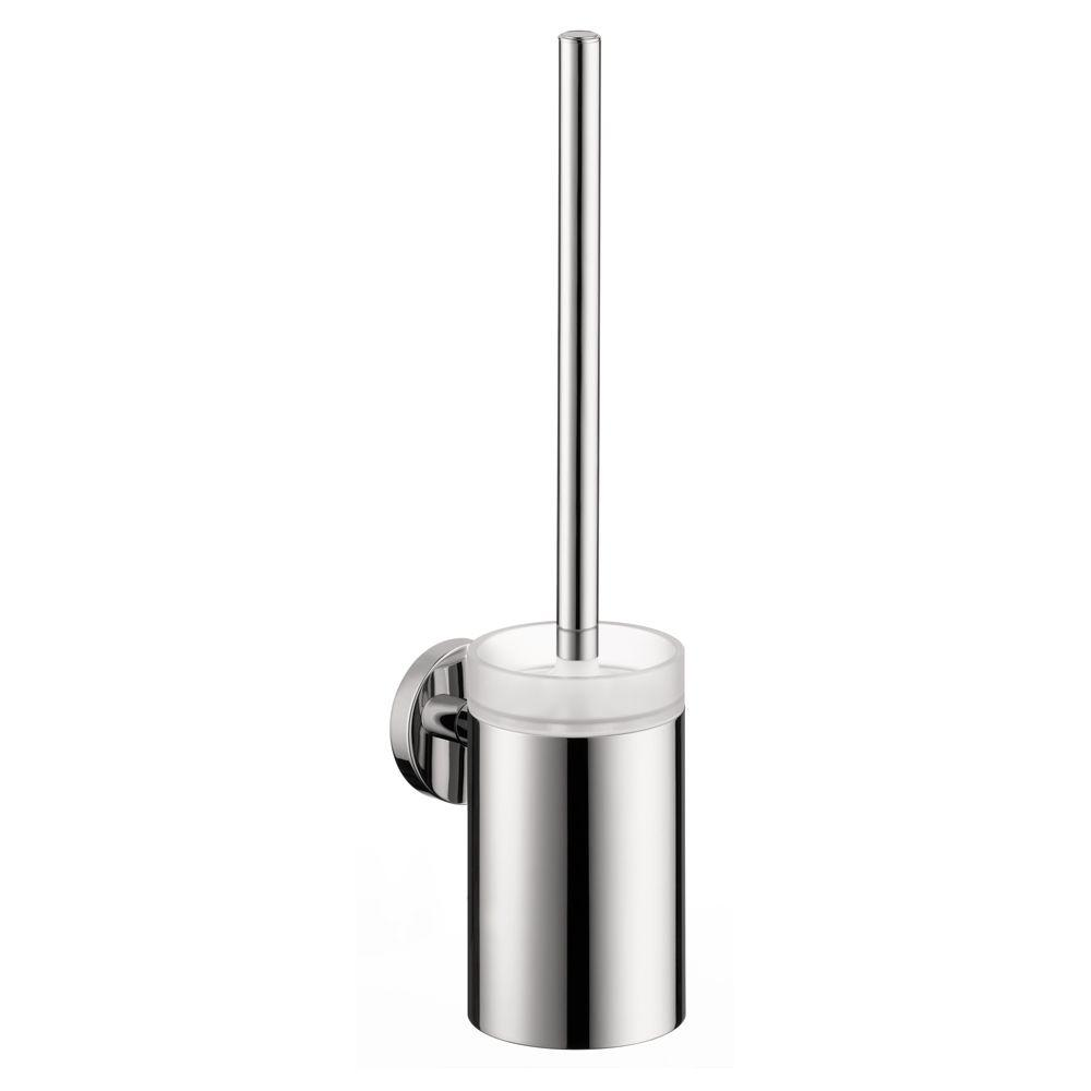hansgrohe e wall mounted brass toilet brush holder in. Black Bedroom Furniture Sets. Home Design Ideas