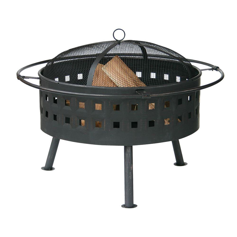 UniFlame 24 in. Deep Aged Bronze Fire Pit