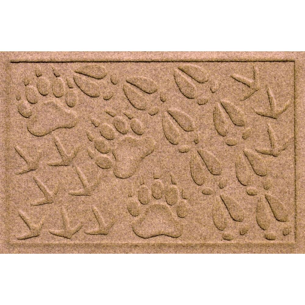 Aqua Shield Animal Tracks Medium Brown 17.5 in. x 26.5 in. Pet Mat