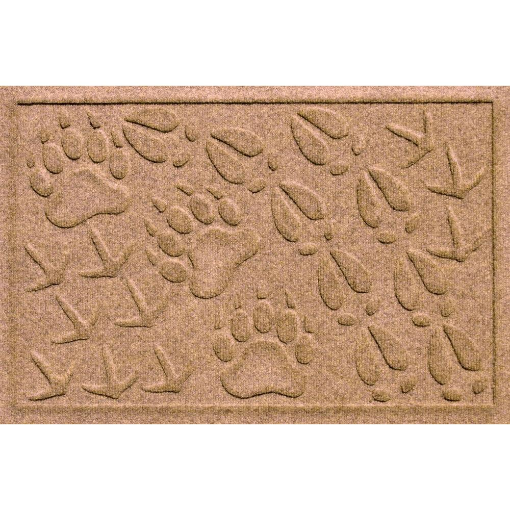 Aqua Shield Animal Tracks Medium Brown 17.5 in. x 26.5 in.