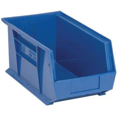 Ultra Series Stack and Hang 7.2 Gal. Storage Bin in Blue (12-Pack)