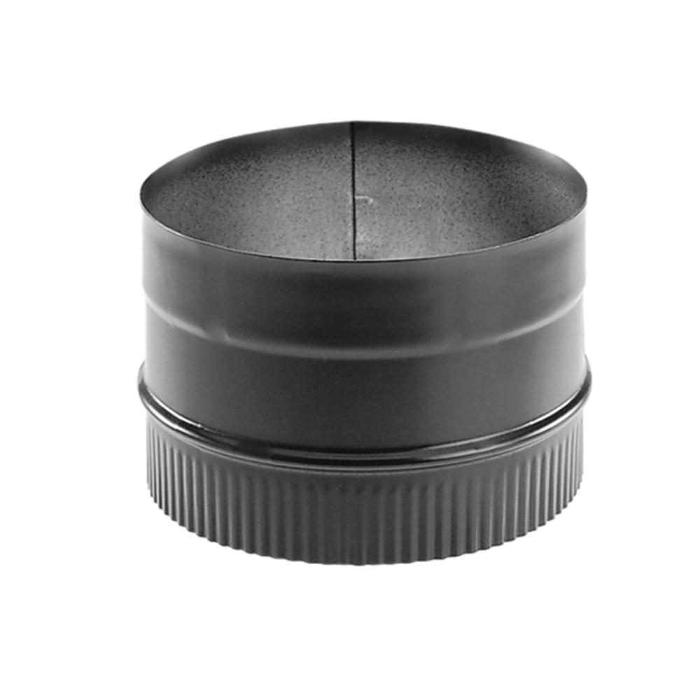 DuraVent DuraBlack 6 in. Single-Wall Chimney Stove Pipe Adapter