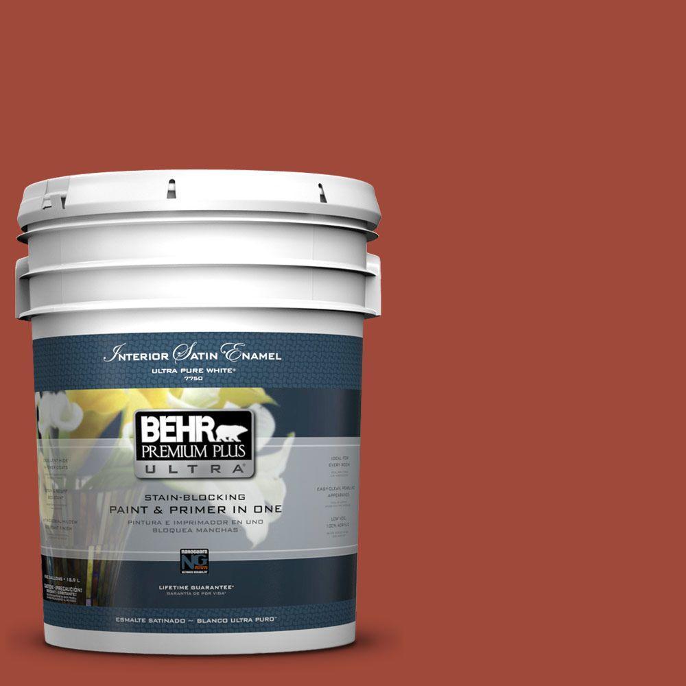 BEHR Premium Plus Ultra 5-gal. #ECC-62-3 Volcanic Satin Enamel Interior Paint