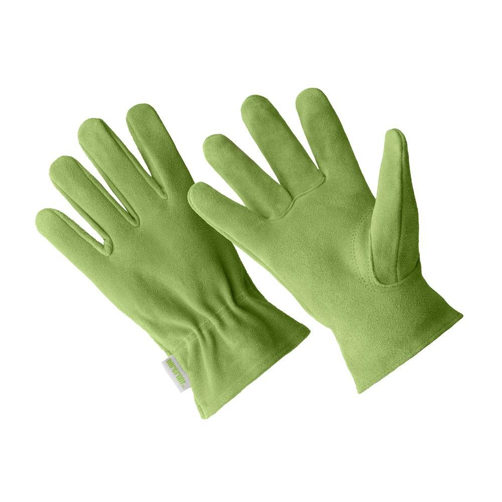 Hands on large ladies premium green suede driver gloves for Big hands for gardening