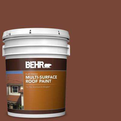 5 gal. #S200-7 Earth Fired Red Flat Multi-Surface Exterior Roof Paint